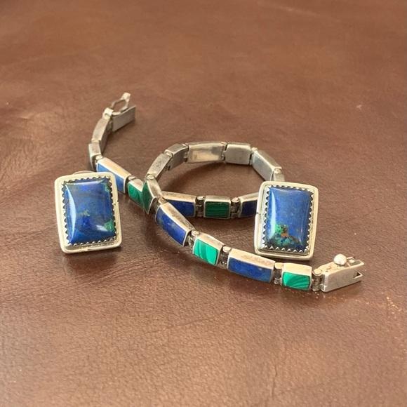 Jewelry - Vintage Zuni Lapis, Malachite, & Azurite Set